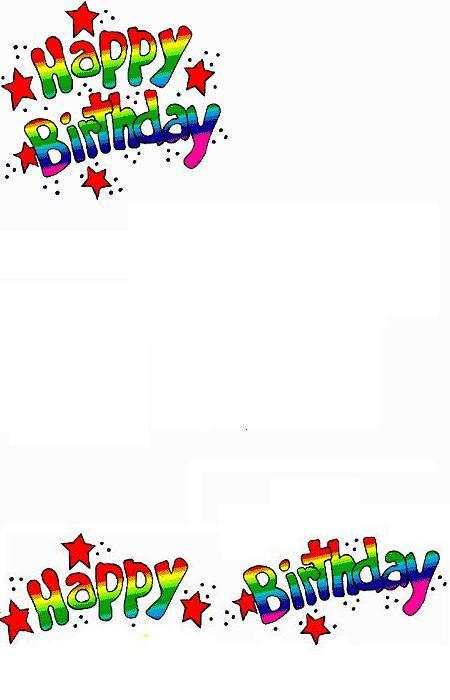 Carte anniversaire gratuite imprimer carte d 39 anniversaire - Carte gratuite a imprimer ...