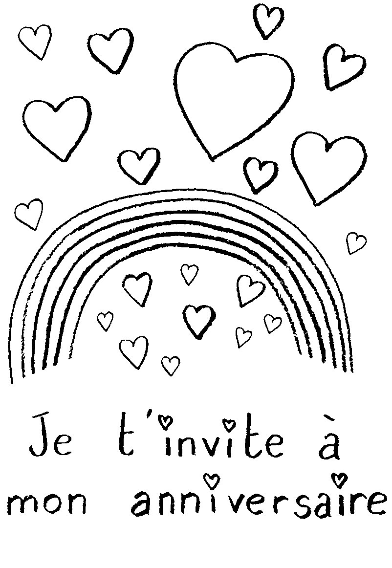Bien-aimé Invitation Anniversaire Gratuite à Imprimer AQ71