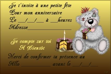 Carte D Invitation D Anniversaire A Imprimer Gratuitement